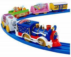 大賀屋 日貨 米奇 好朋友 馬戲團 樂園 火車 迪士尼 汽車 玩具 TAKARA TOMY 車 正版 L00010957