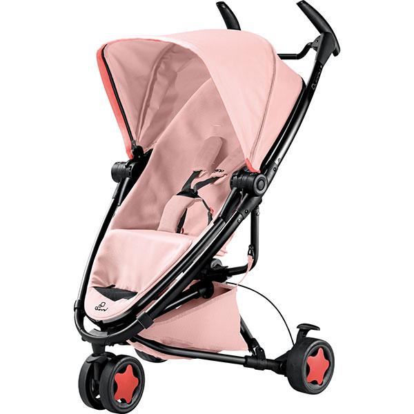 【贈提籃+專用杯架+搖搖椅】荷蘭【Quinny】Zapp Xtra2 Miami嬰兒推車(黑管粉) 1