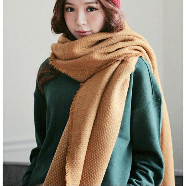 77美妝:菱格流蘇保暖圍巾