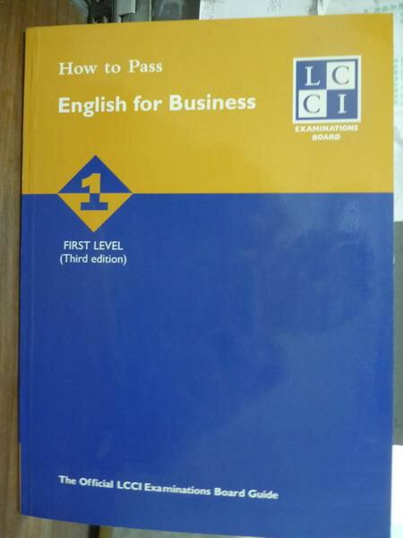 ~書寶 書T4/語言學習_QFP~How to Pass English…First Le