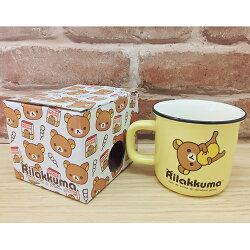 【真愛日本】17060800018 陶瓷口壺馬克杯-懶熊仰躺黃 SAN-X 奶妹 奶熊 拉拉熊 水杯 杯子 茶杯