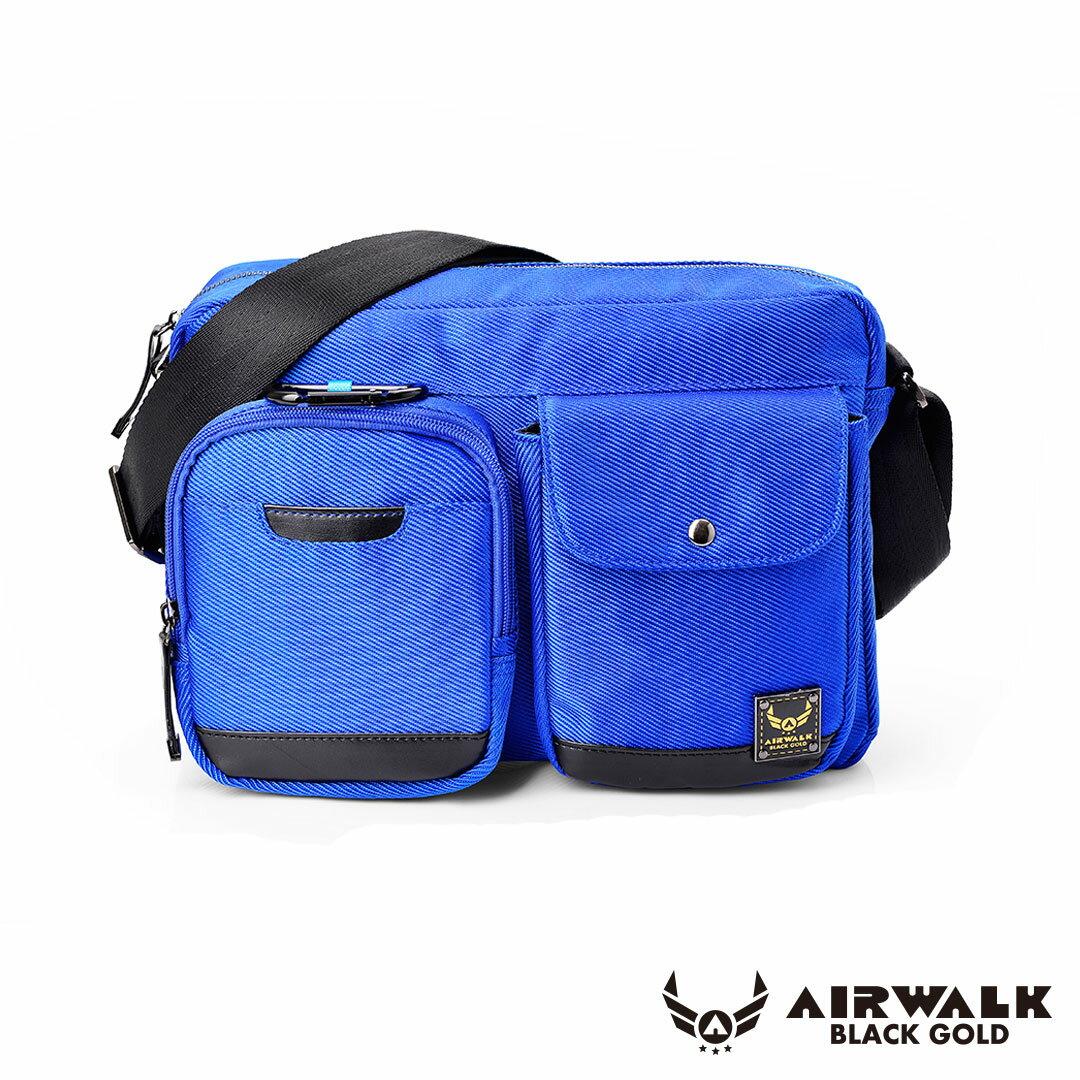 AIRWALK 黑金系列。移動裝甲。母子隨身二用口袋側背包【A331412182】裝甲藍【禾雅】