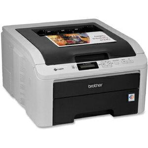 Brother HL-3045CN LED Printer - Color - 2400 x 600 dpi Print - Plain Paper Print - Desktop - 19 ppm Mono / 19 ppm Color Print - 250 sheets Standard Input Capacity - Manual Duplex Print - LCD - Ethernet - USB 1