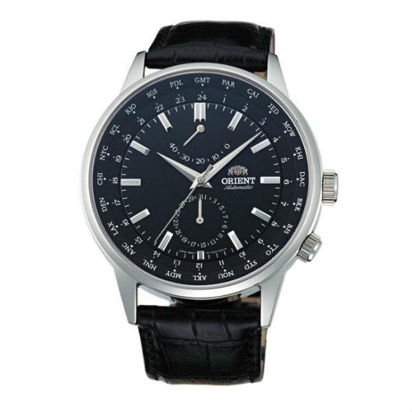 ORIENT東方錶WORLDTIME系列(SFA06002B)世界時間機械錶皮帶款黑色43.5mm