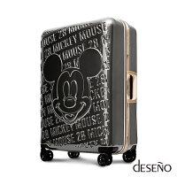 【加賀皮件】Deseno Disney 迪士尼 MICKEY 米奇 經典復刻 浮雕 多色 鋁框 旅行箱 28吋 行李箱 D2663-加賀皮件-旅行箱行李箱專賣店-流行女裝