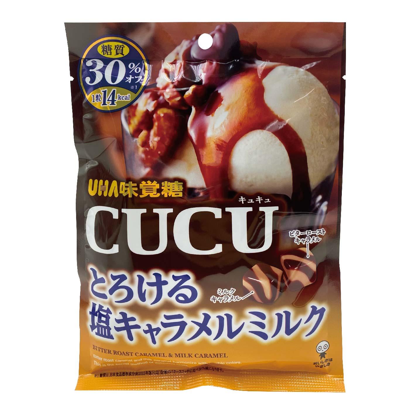 日本 UHA 味覺糖 CUCU 鹽焦糖牛奶 骰子糖 77g 方塊糖