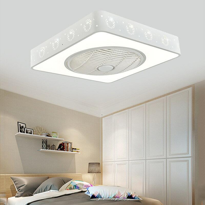 方形現代吸頂燈ceiling fan創意電風扇燈led燈
