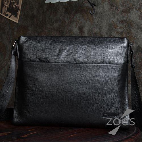 ~Zoe  ^#27 s~ 牛皮 商務系列 荔枝紋電腦包^(紳士黑^) ~  好康折扣