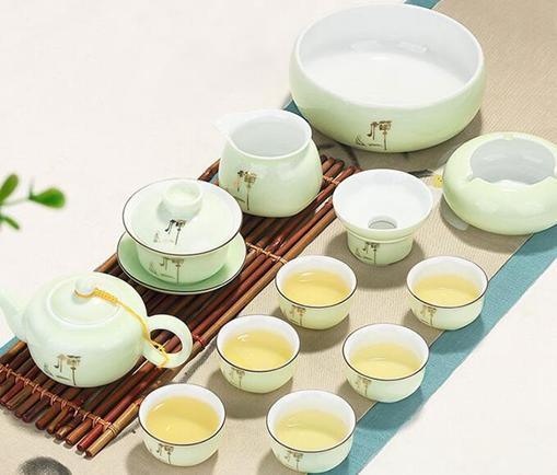龍泉青瓷功夫茶具套裝家用簡約現代泡茶杯茶壺景德鎮茶藝客廳