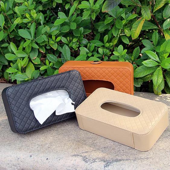 紙巾盒-汽車內飾用品車載車用紙巾盒 汽車創意遮陽板掛式天窗椅背抽紙盒【全館】