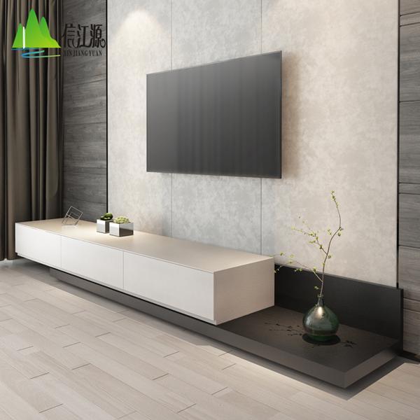 電視櫃 電視櫃現代簡約茶幾組合北歐中小戶型可伸縮黑胡桃色客廳電視機櫃