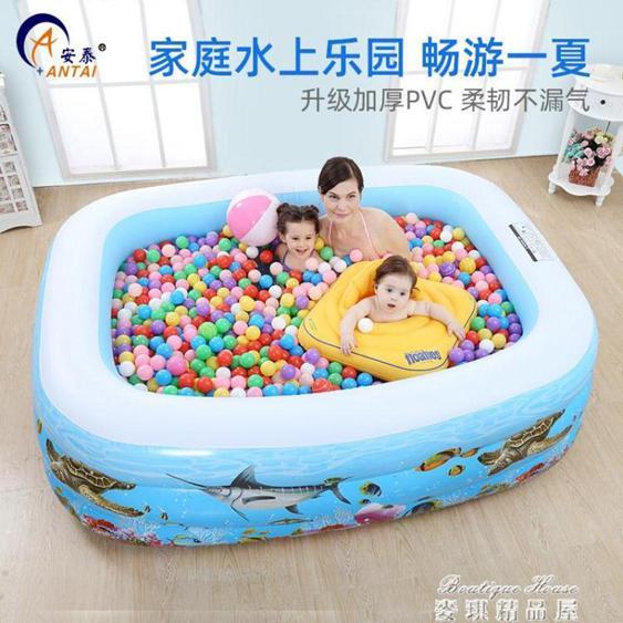 小孩充氣游泳池家用家庭成人兒童水上樂園加厚大型戲水池泳池