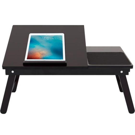 筆記本電腦桌實木家用桌大學生宿舍床上膝上懶人桌小書桌HRYC