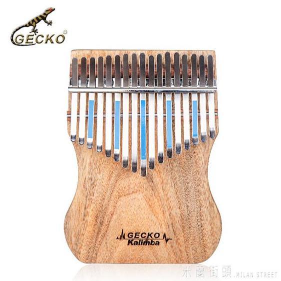 GECKO壁虎卡林巴琴17音拇指琴手指鋼琴初學者便攜式kalimba琴樂器