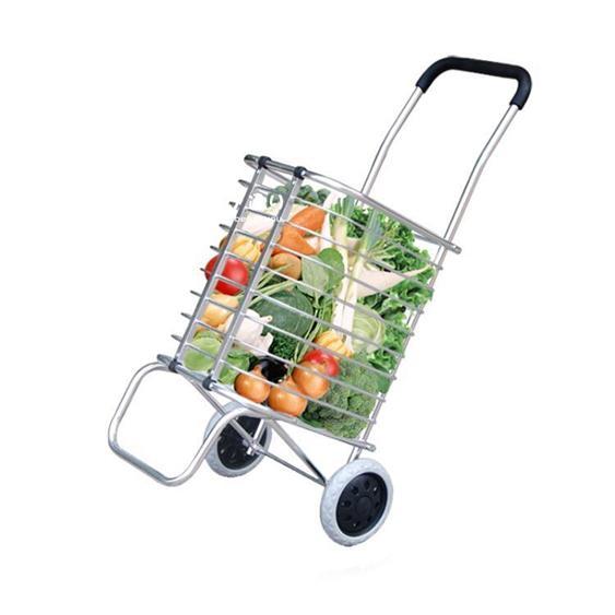 購物車 買菜車小拉車便攜可折疊手拉車手推車家用拉桿車拖車鋁合YDL