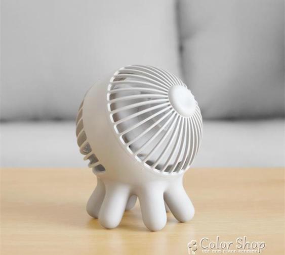 章魚小風扇 usb小型充電便攜創意迷你臺式辦公桌面學生宿舍電風扇