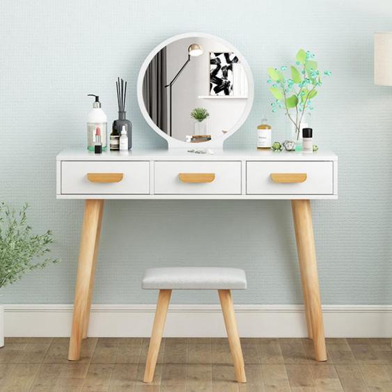 梳妝臺 梳妝臺臥室小戶型迷你化妝桌收納櫃現代簡約簡易化妝櫃網紅化妝臺