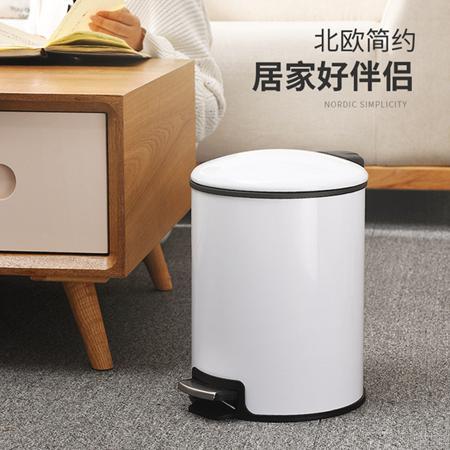 歐式 垃圾桶 家用 客廳 臥室 衛生間 廚房 創意有蓋大號不鏽鋼腳踏式帶蓋   【2020樂天雙12購物節】