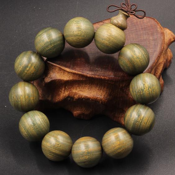 佛珠手環 天然正宗綠檀木佛珠手串轉運辟邪檀香木手鏈男女士款飾品