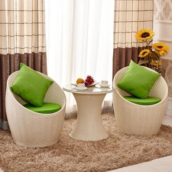 陽臺桌椅組合小茶幾三件套簡約休閒戶外室外庭院咖啡廳鐵藝桌椅子