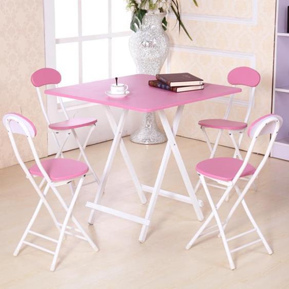 可桌餐桌家用簡易小戶型戶外簡約吃飯圓桌子正方形2人4人飯桌