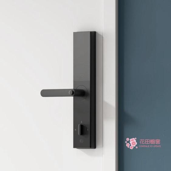 指紋鎖 智慧門鎖青春版 指紋密碼鎖家用防盜門電子鎖遠程開門T 2色
