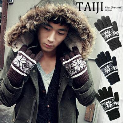 保暖手套~NX1882~街頭風格. 雪花圖案針織毛線手套.四色‧  皮革  字母  編織