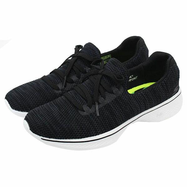 【SKECHERS】GO WALK 4 健走鞋 運動鞋 黑色(女)-14919BKW