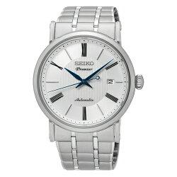 SEIKO Premier 典藏尊榮機械腕錶/白面/4R35-01C0S