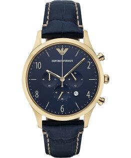 EMPORIOARMANI亞曼尼AR1862藍金古典復刻腕錶藍面43mm