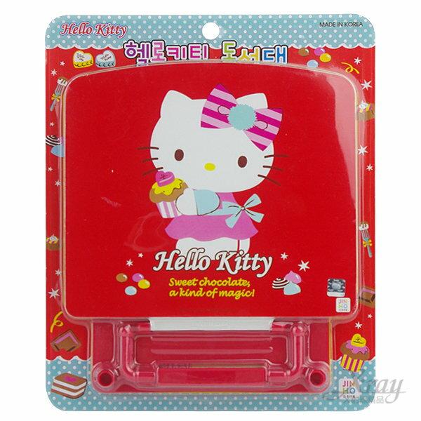 X射線【C411669】Kitty塑膠看書架-2款(紅色蛋糕/桃色熊),文具用品/開學必備/辦公用品/閱讀書架