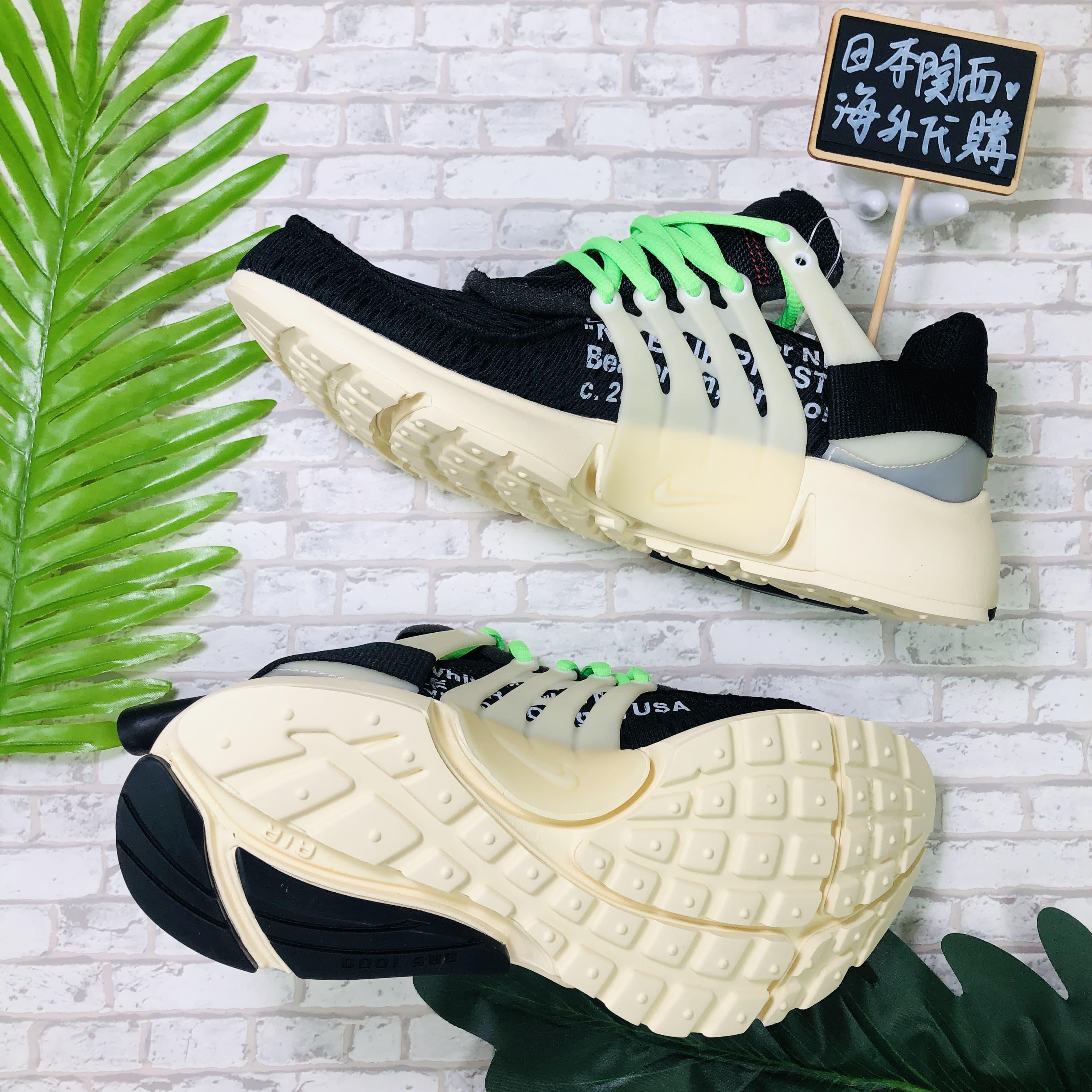Off White x Nike Air Presto 1.0 聯名 魚骨 縫補 男女 AA3830-001