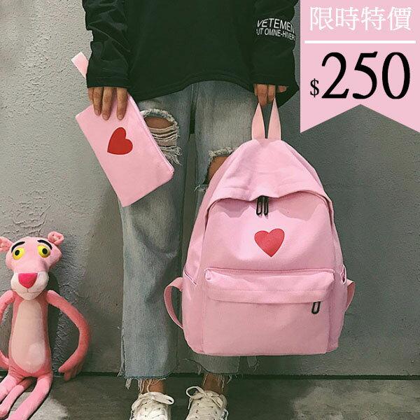 後背包-甜心純色子母後背包-6204- J II