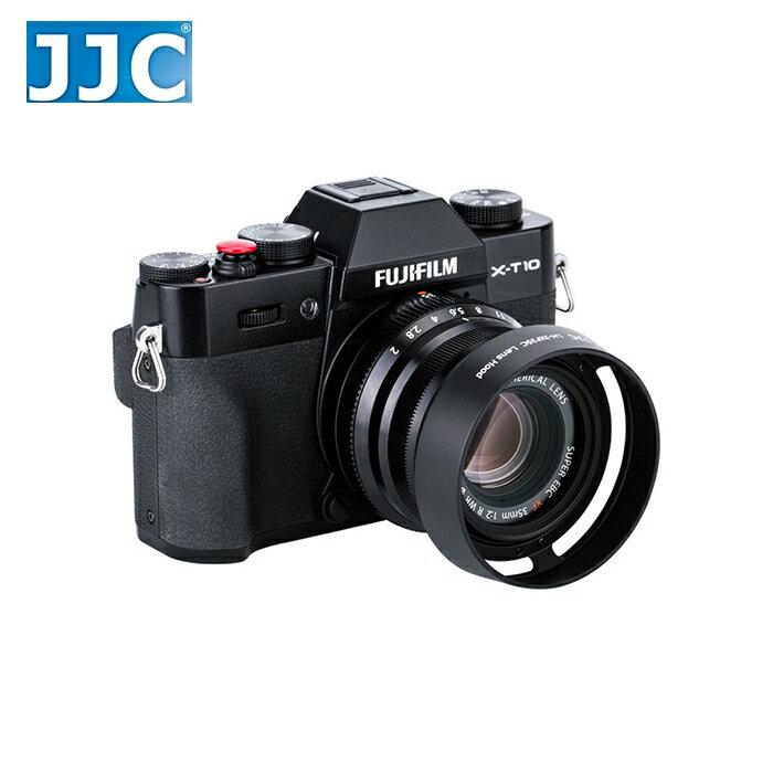又敗家@JJC富士Fujifilm副廠遮光罩LH-XF35II遮光罩(黑色)相容原廠Fujifilm遮光罩LHXF35II太陽罩,適XF 23mm 35mm f/2.0 R WR太陽罩F2.0遮陽罩1..