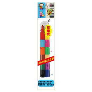 龍和可擦拭胖胖積木彩虹筆BB-075