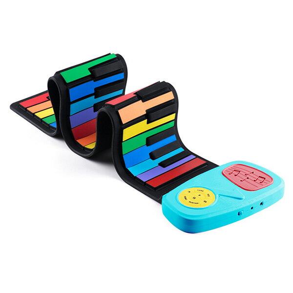 傳揚攜帶型49鍵高音質手捲電子琴-彩虹琴鍵5217SHOPPING