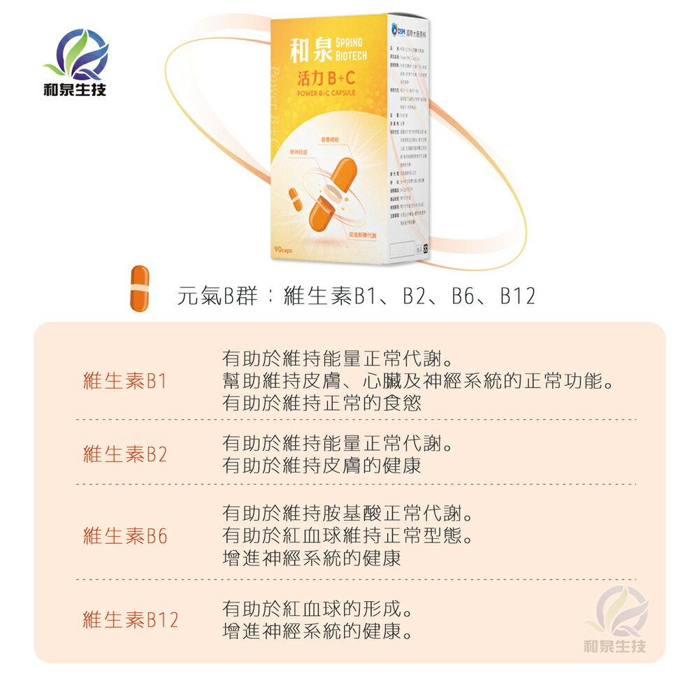 【高單位B群+C】和泉 活力B+C 90粒【瑞昌藥局】016169 荷蘭DSM國際大廠原料+維生素C.E