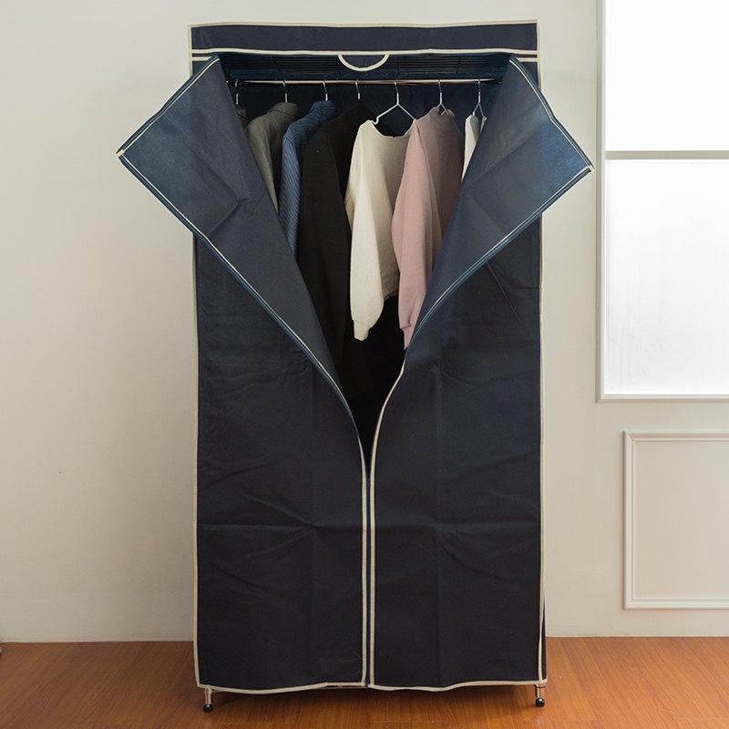 洋裝收納架 / 衣架 90x45x180cm三層單桿烤漆黑衣櫥架【附布套 顏色隨機】 dayneeds 2