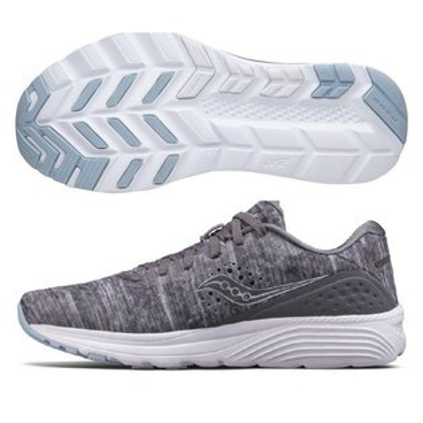 SAUCONY男馬拉松鞋KINVARA8(灰*炫光)緩衝型訓練鞋【胖媛的店】S20356-20