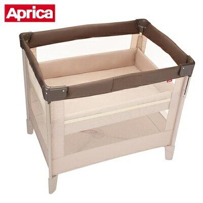 Aprica 愛普力卡 COCONEL Air 可攜式嬰兒遊戲床 (拿鐵棕)