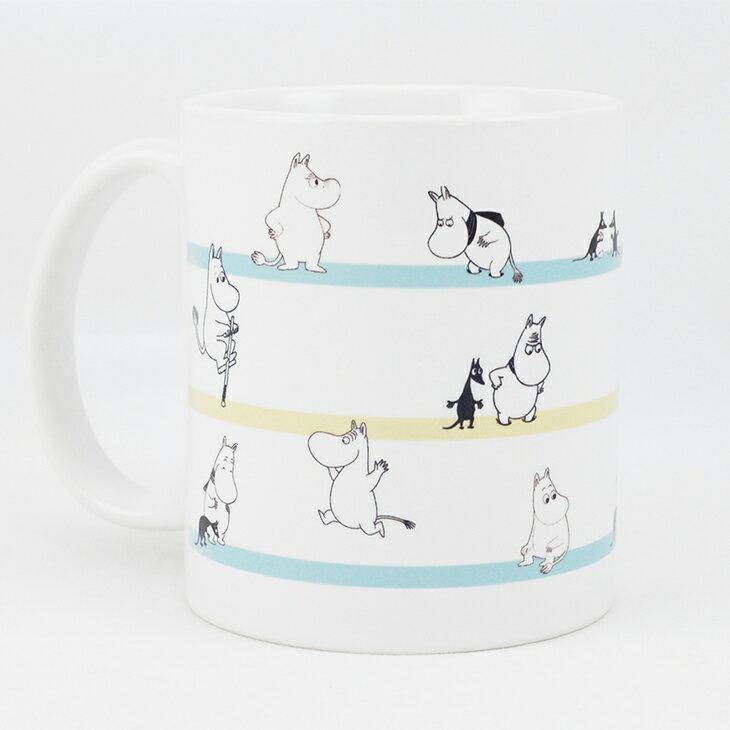 Moomin嚕嚕米授權 - 馬克杯 / 牛奶杯:【 Moomin撐竿跳 】