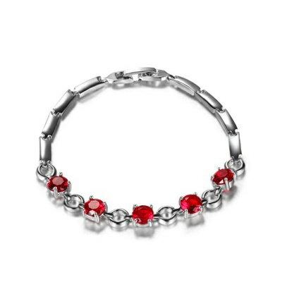 925純銀手鍊水晶手環~ 優雅光芒璀璨母親節生日情人節 女飾品6色73fg22~ ~~米蘭