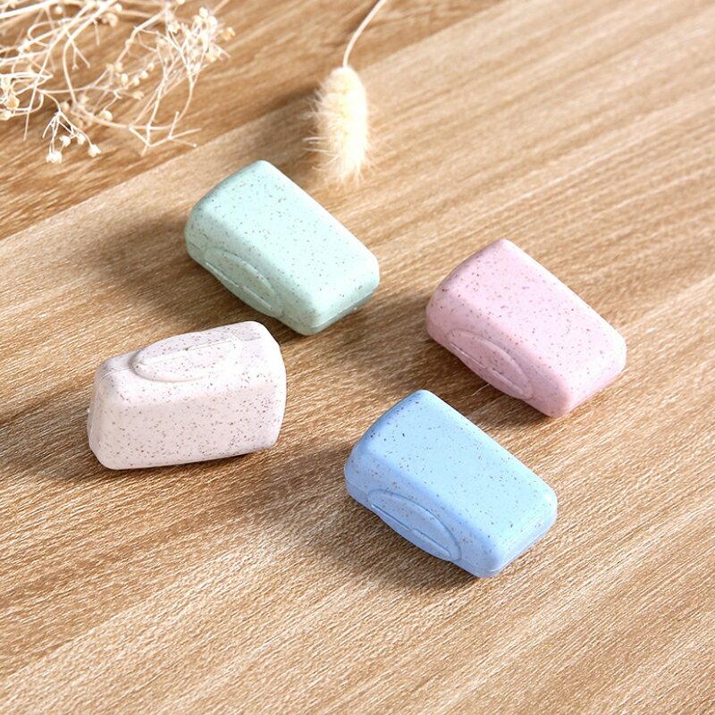 小麥秸稈牙刷頭套 (4入) 牙刷套 牙刷架 牙刷盒 牙刷收納盒