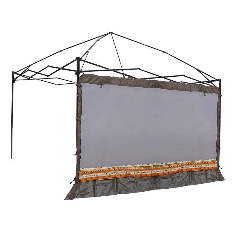 【露營趣】中和 Outdoorbase 23120 歡樂(炊事)客廳帳專用邊布 圍布-灰(附收納袋)