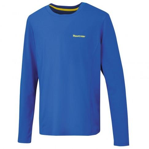 ├登山樂┤山林Mountneer男透氣排汗長袖上衣-寶藍#21P25-80