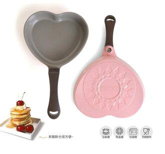 免運費 韓國NEOFLAM Aeni系列 17cm陶瓷不沾愛心煎蛋鍋-粉紅色 EC-AN-HRT - 限時優惠好康折扣