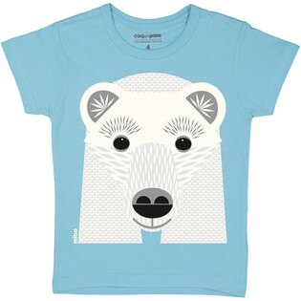 飛炫寶寶嬰幼兒精品館:飛炫寶寶【法國COQENPATE】短袖T-SHIRT(北極熊)※有機棉