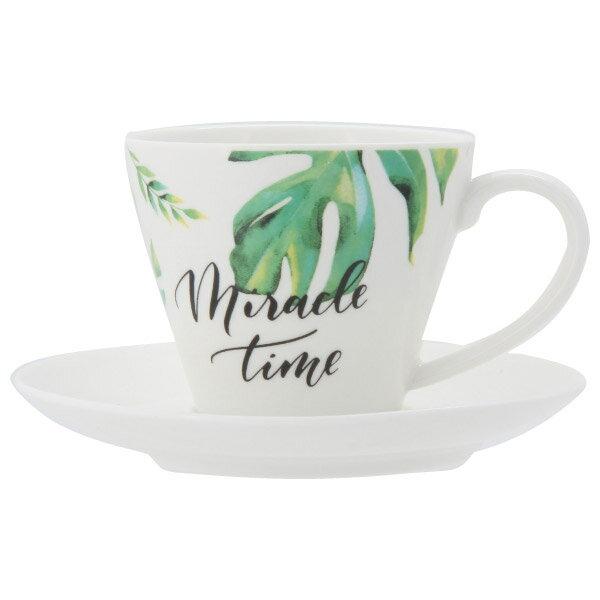 咖啡杯盤組 BOTANICAL A4956F1681+A4957 NITORI宜得利家居 1