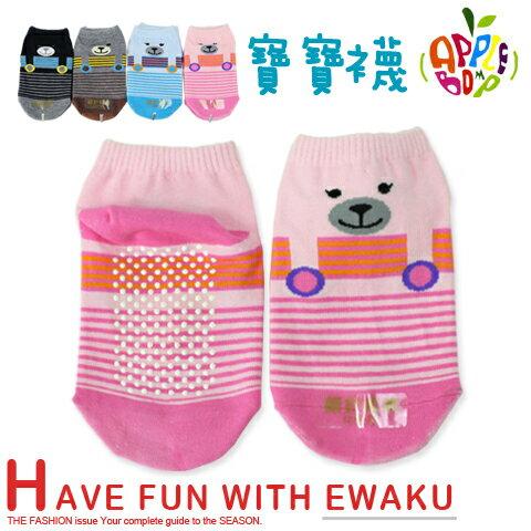 細針止滑寶寶襪 小狗款 直版襪 台灣製 本之豐