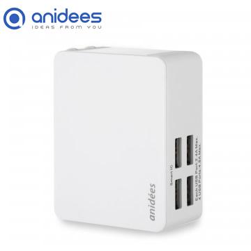 anidees 4 port 4.8A USB 智能電源充電器 (摺疊插頭)
